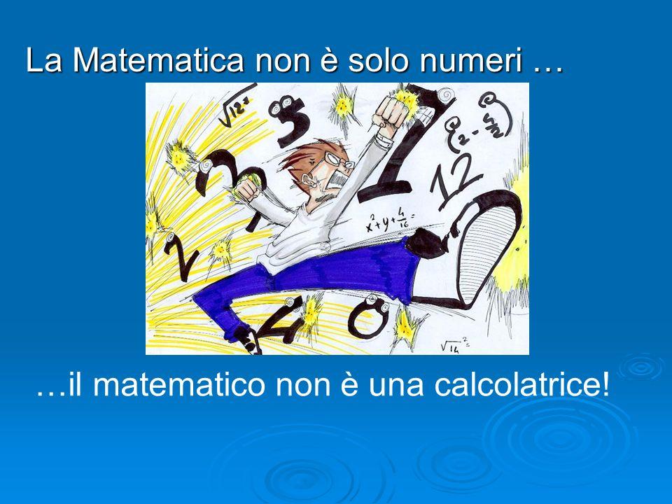 La Matematica non è solo numeri … …il matematico non è una calcolatrice!