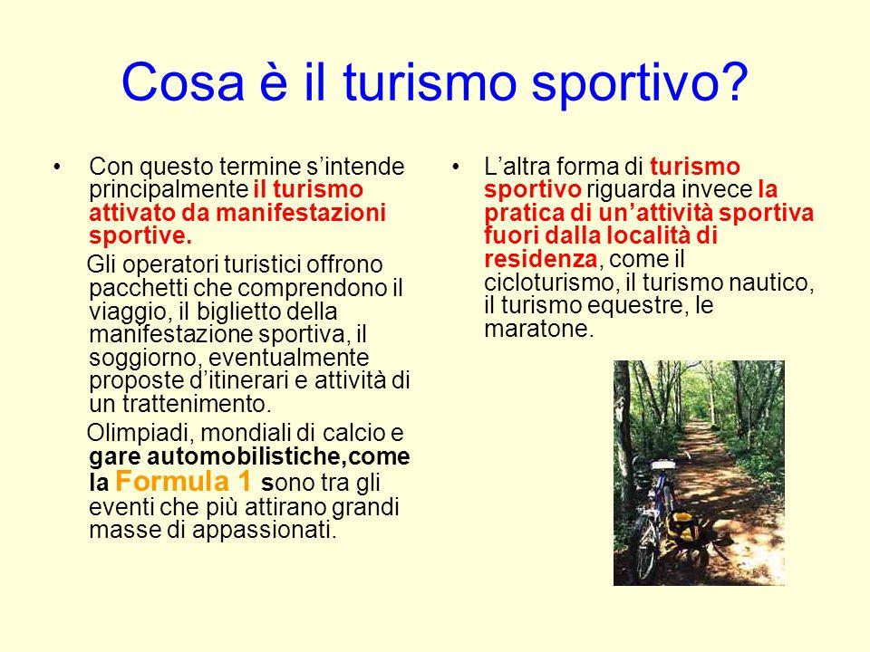 Cosa è il turismo sportivo? Con questo termine sintende principalmente il turismo attivato da manifestazioni sportive. Gli operatori turistici offrono