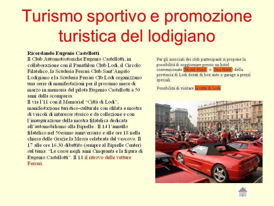 Turismo sportivo e promozione turistica del lodigiano