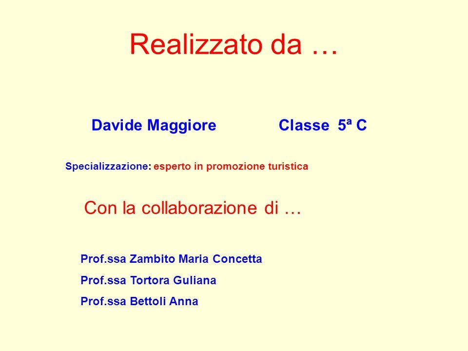 Realizzato da … Davide Maggiore Classe 5ª C Con la collaborazione di … Prof.ssa Zambito Maria Concetta Prof.ssa Tortora Guliana Prof.ssa Bettoli Anna