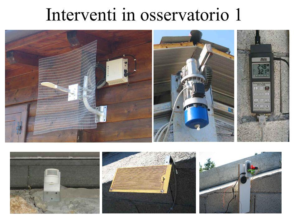 Interventi in osservatorio 2