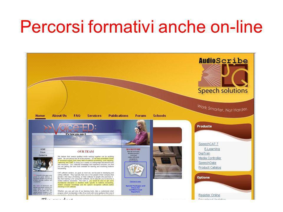 Percorsi formativi anche on-line