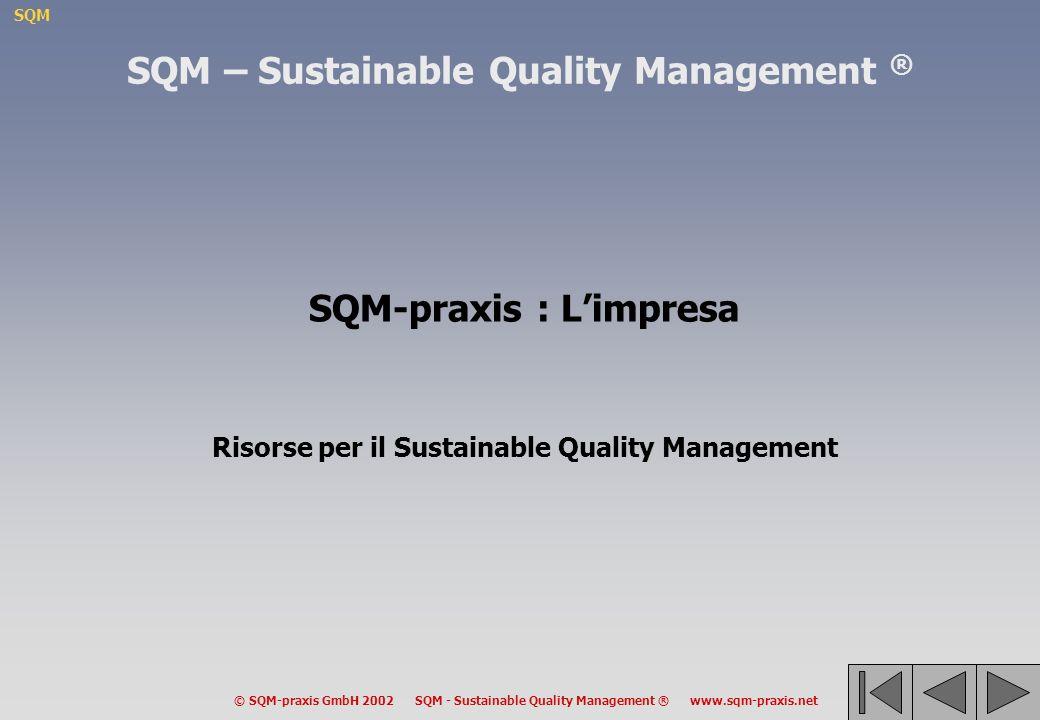 SQM © SQM-praxis GmbH 2002 SQM - Sustainable Quality Management ® www.sqm-praxis.net SQM – Sustainable Quality Management ® SQM-praxis : Limpresa Riso