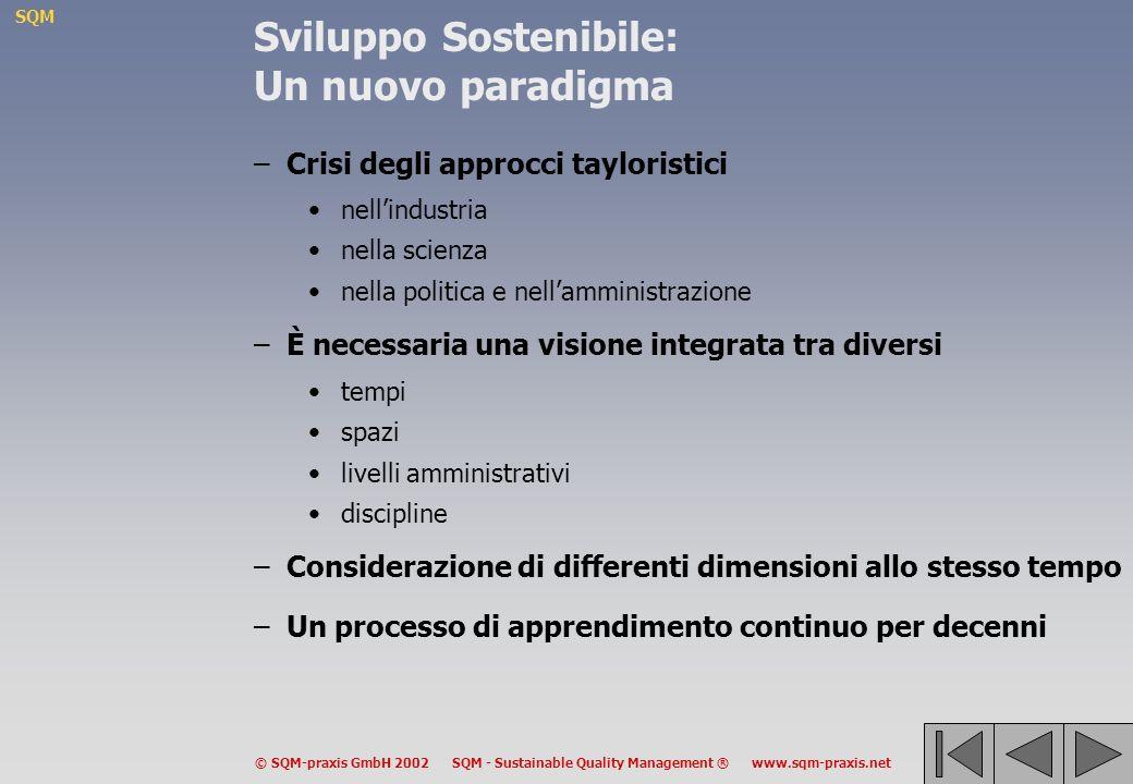 SQM © SQM-praxis GmbH 2002 SQM - Sustainable Quality Management ® www.sqm-praxis.net SQM – Sustainable Quality Management SQM – Metodi