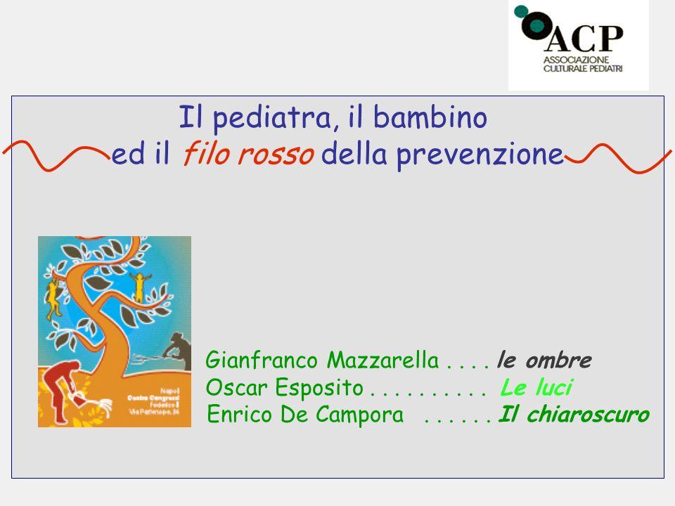 Il pediatra, il bambino ed il filo rosso della prevenzione Gianfranco Mazzarella.... le ombre Oscar Esposito.......... Le luci Enrico De Campora......