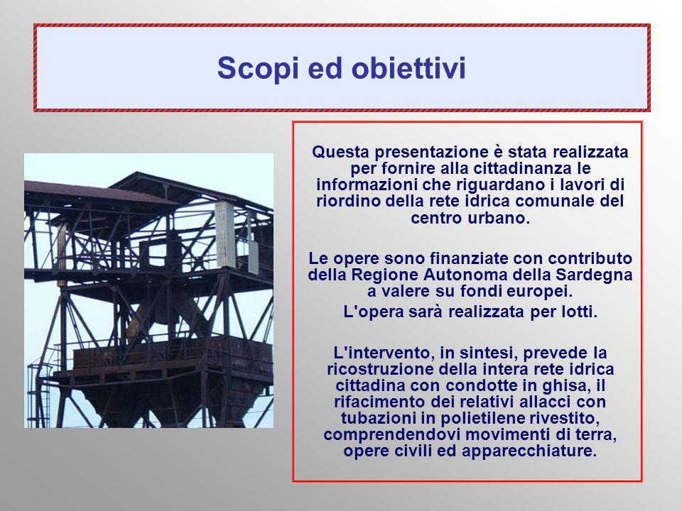 Scopi ed obiettivi Questa presentazione è stata realizzata per fornire alla cittadinanza le informazioni che riguardano i lavori di riordino della ret