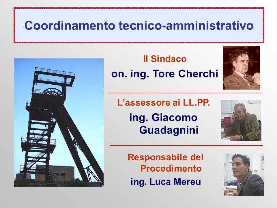 Coordinamento tecnico-amministrativo Lassessore ai LL.PP. ing. Giacomo Guadagnini Il Sindaco on. ing. Tore Cherchi Responsabile del Procedimento ing.