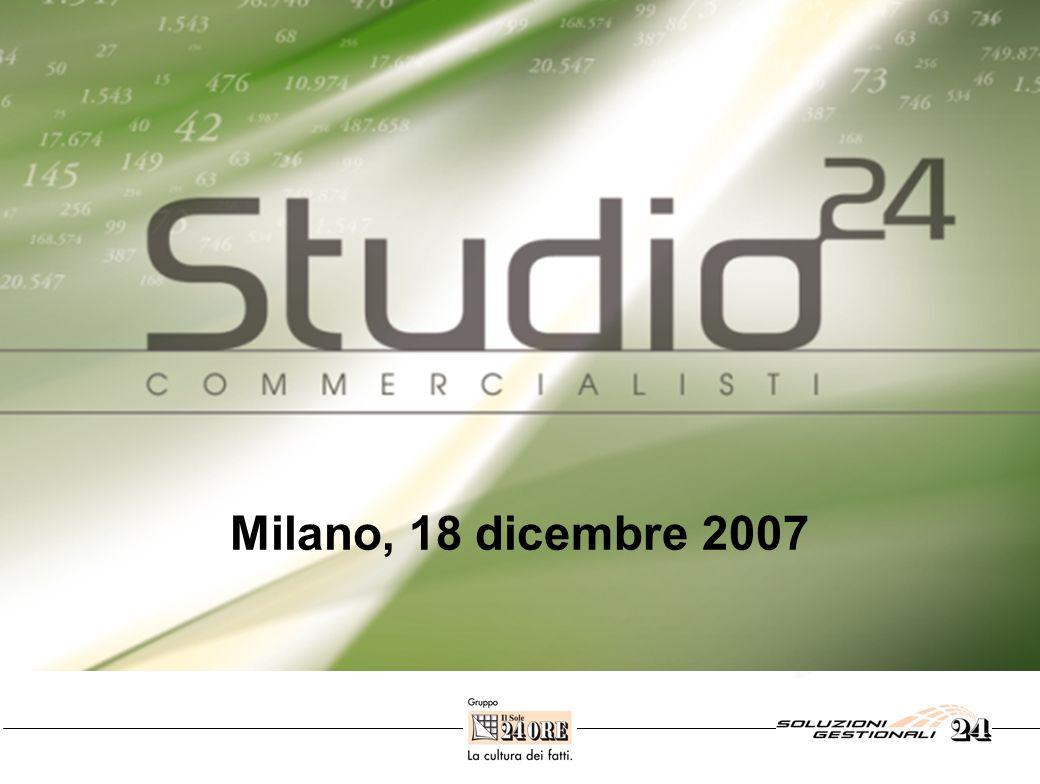 Il nuovo progetto Milano, 18 dicembre 2007