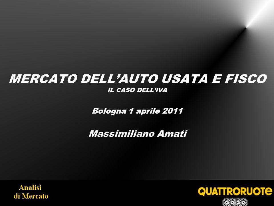 MERCATO DELLAUTO USATA E FISCO IL CASO DELLIVA Bologna 1 aprile 2011 Massimiliano Amati