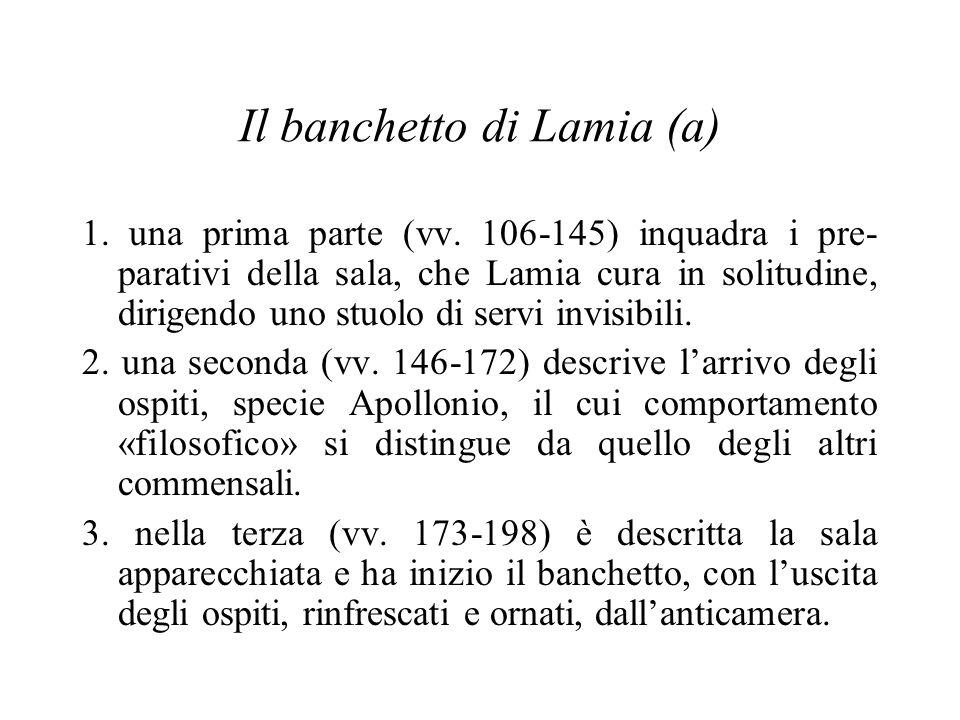 Il banchetto di Lamia (a) 1. una prima parte (vv.