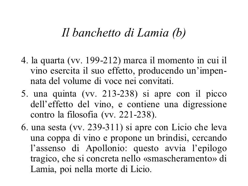Il banchetto di Lamia (b) 4. la quarta (vv.