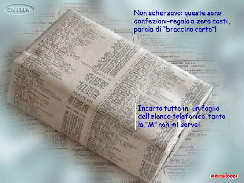 REGALO SCIAMPO: CONFEZIONE BICOLORE Ricopro come al solito il pacchetto con un foglio, ma stavolta in più ho anche un fo- glio di carta velina nera: posso dare sfogo alla fantasia!