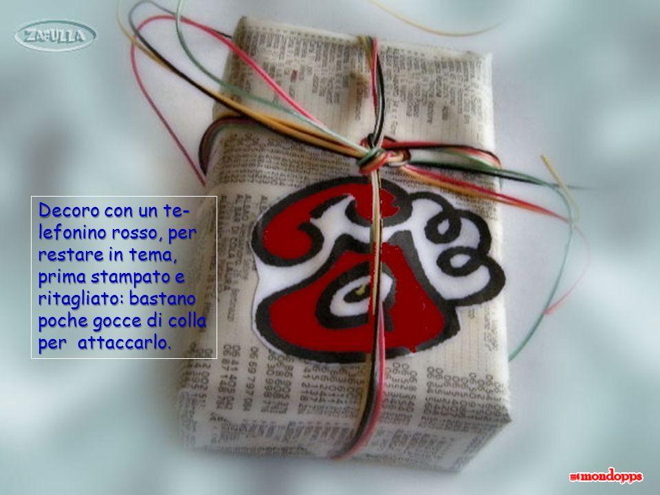 Il regalo potrebbe essere un telefonino ma, con quello che costano è meglio regalare una rubrichetta telefonica.