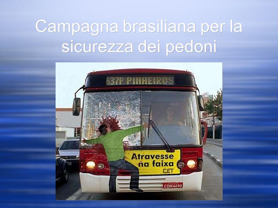 Campagna brasiliana per la sicurezza dei pedoni