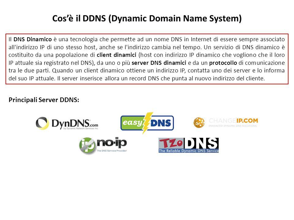 Il DNS Dinamico è una tecnologia che permette ad un nome DNS in Internet di essere sempre associato all'indirizzo IP di uno stesso host, anche se l'in