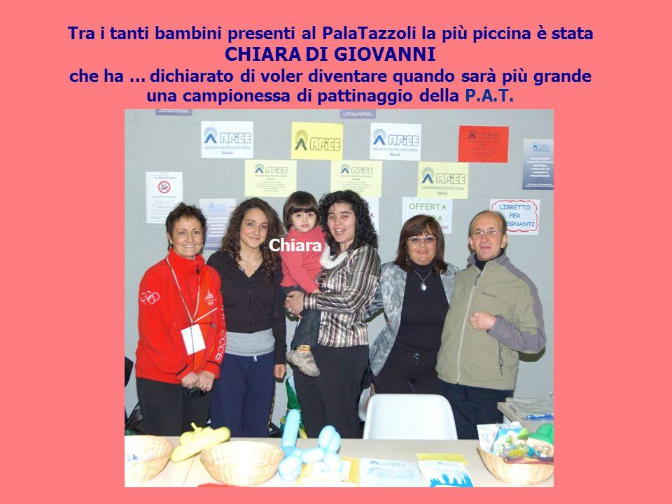 Tra i tanti bambini presenti al PalaTazzoli la più piccina è stata CHIARA DI GIOVANNI che ha...