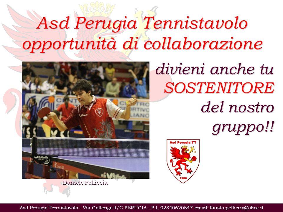 Asd Perugia Tennistavolo - Via Gallenga 4/C PERUGIA - P.I.