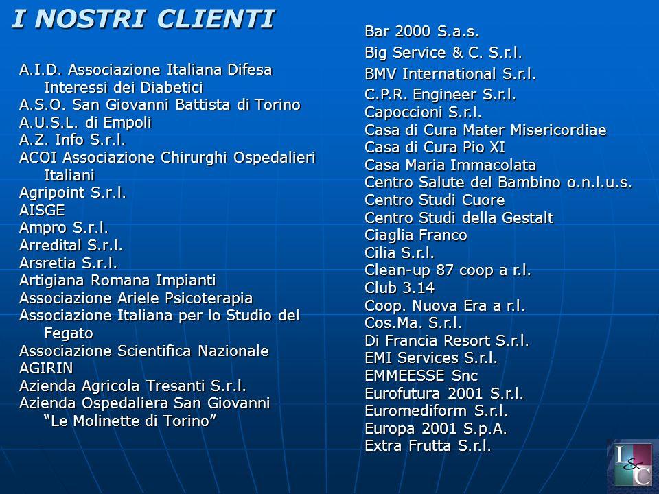 I NOSTRI CLIENTI A.I.D. Associazione Italiana Difesa Interessi dei Diabetici A.S.O.