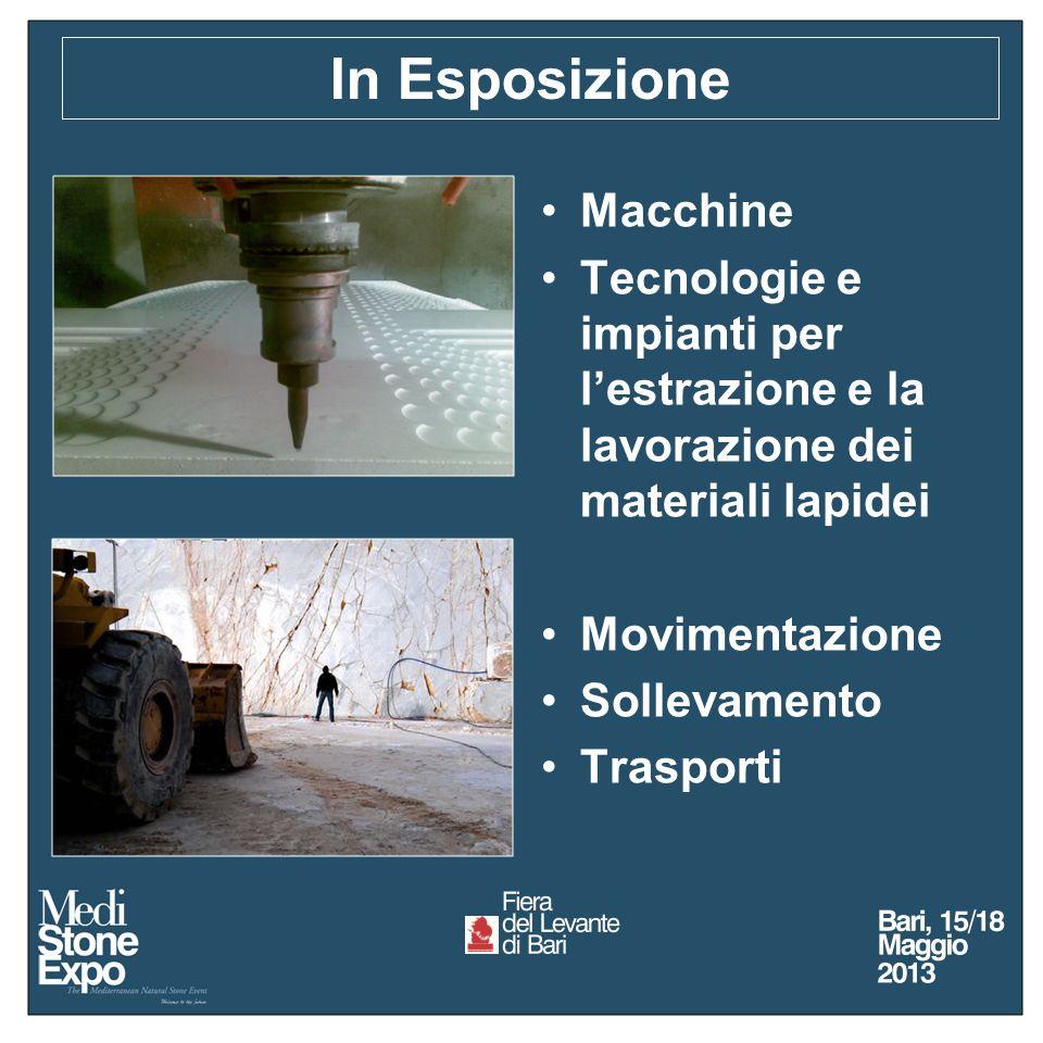 Macchine Tecnologie e impianti per lestrazione e la lavorazione dei materiali lapidei Movimentazione Sollevamento Trasporti In Esposizione