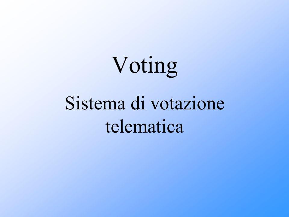 Voting Sistema di votazione telematica