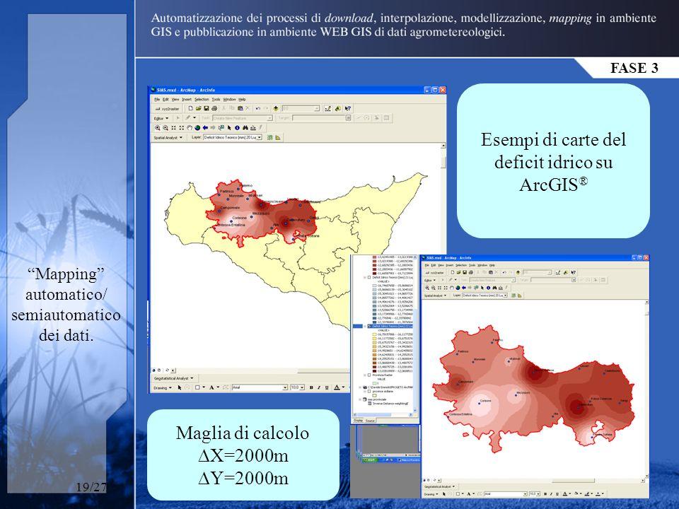 FASE 3 Mapping automatico/ semiautomatico dei dati.