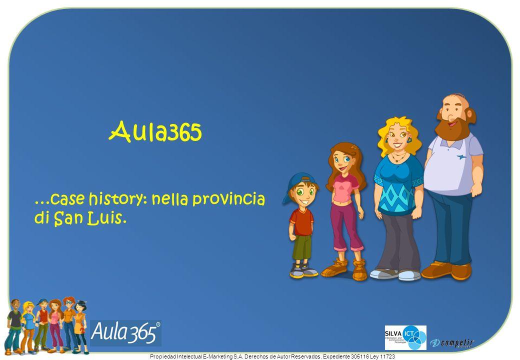 Propiedad Intelectual E-Marketing S.A. Derechos de Autor Reservados. Expediente 305116 Ley 11723 Aula365...case history: nella provincia di San Luis.