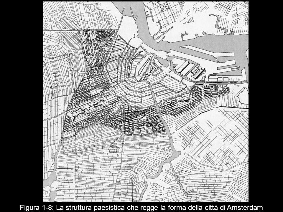 Figura 1 8: La struttura paesistica che regge la forma della città di Amsterdam