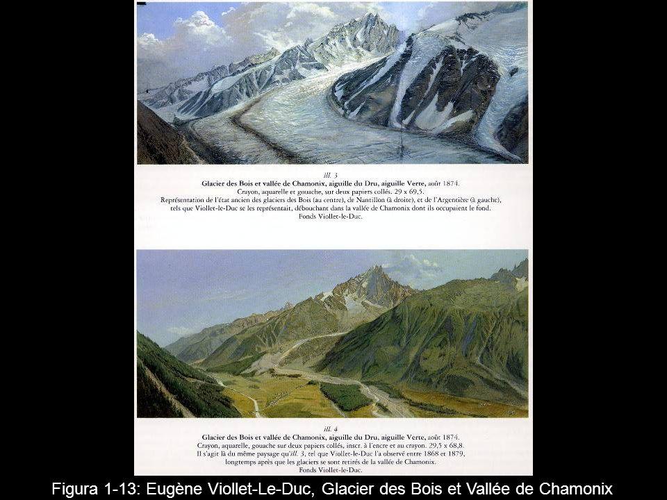 Figura 1 13: Eugène Viollet-Le-Duc, Glacier des Bois et Vallée de Chamonix