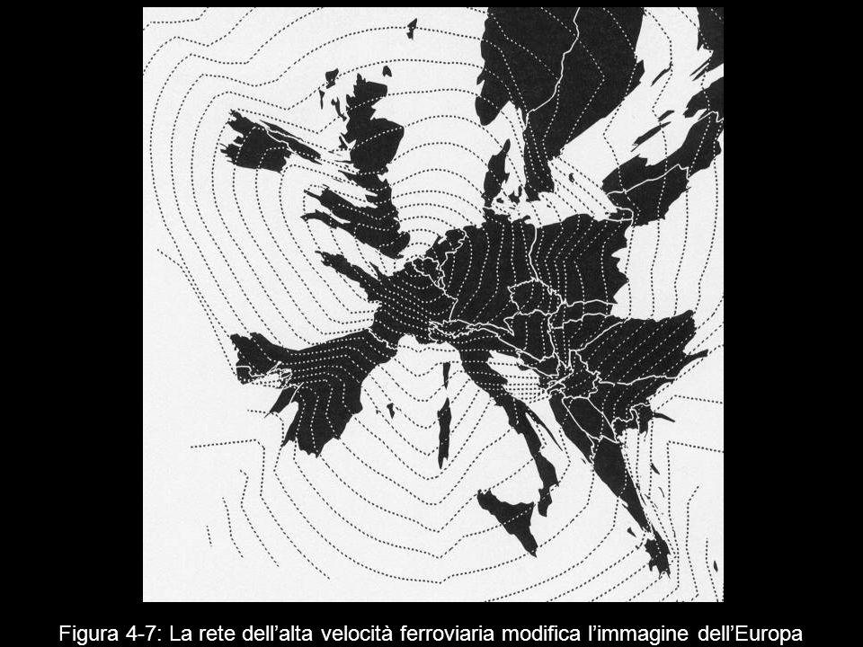 Figura 4 7: La rete dellalta velocità ferroviaria modifica limmagine dellEuropa