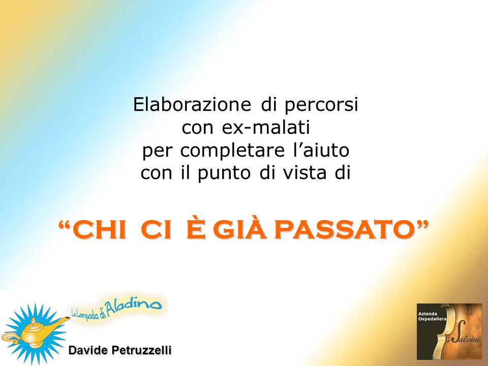 Davide Petruzzelli CHI CI È GIÀ PASSATO Elaborazione di percorsi con ex-malati per completare laiuto con il punto di vista di