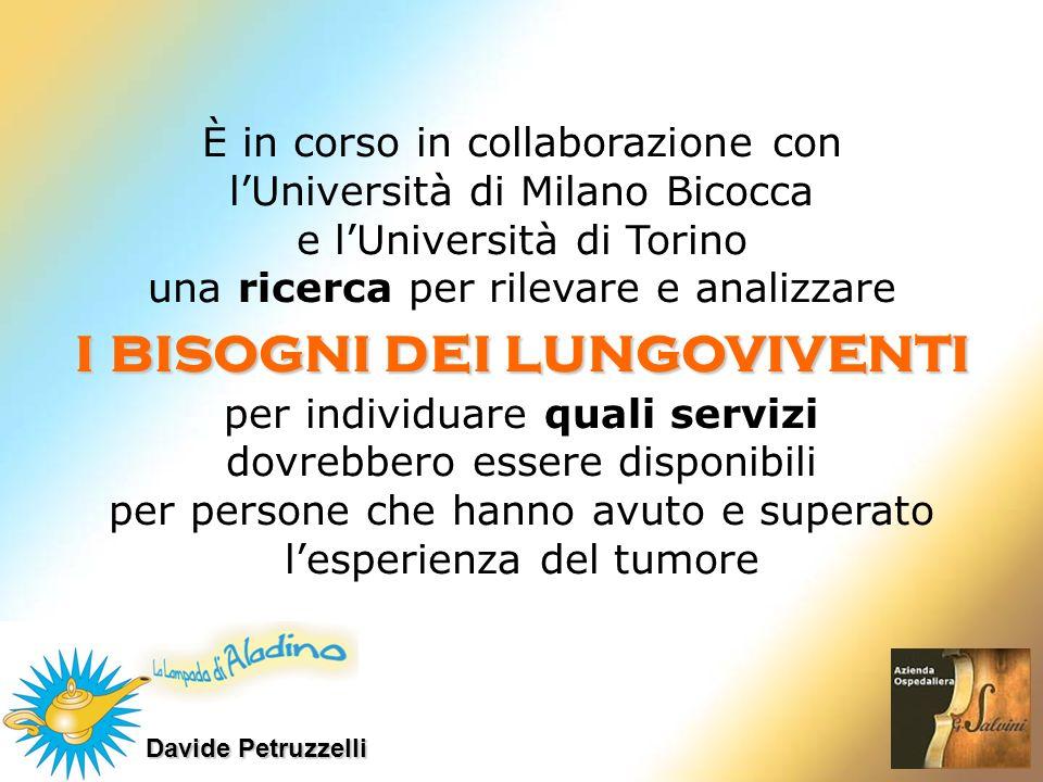 Davide Petruzzelli È in corso in collaborazione con lUniversità di Milano Bicocca e lUniversità di Torino una ricerca per rilevare e analizzare i biso