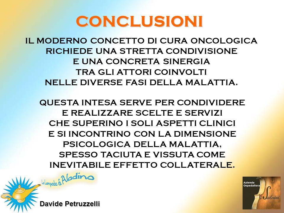 Davide Petruzzelli CONCLUSIONI QUESTA INTESA SERVE PER CONDIVIDERE E REALIZZARE SCELTE E SERVIZI CHE SUPERINO I SOLI ASPETTI CLINICI E SI INCONTRINO C