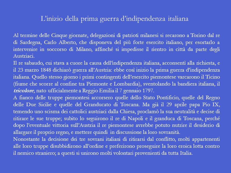 A conclusione dellinsurrezione, uno dei suoi capi, il conte e senatore Luigi Torelli, salì sul Duomo di Milano a porre simbolicamente la bandiera ital