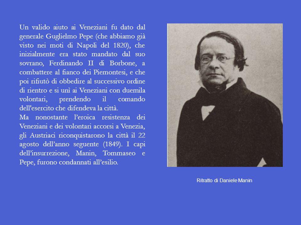 La fine della Repubblica di san Marco Il 5 luglio 1848 lAssemblea dei Deputati della provincia di Venezia decise lannessione della Repubblica di san M