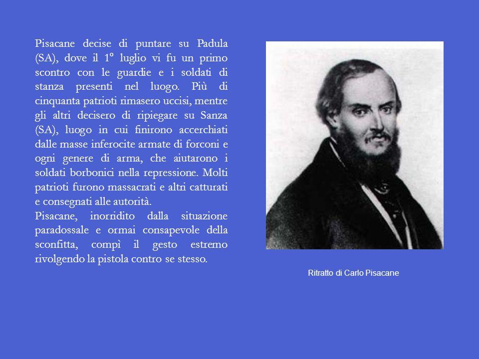La spedizione di Sapri Il 25 giugno 1857 il patriota napoletano Carlo Pisacane, seguace delle idee di Mazzini ed ex combattente della Repubblica Roman