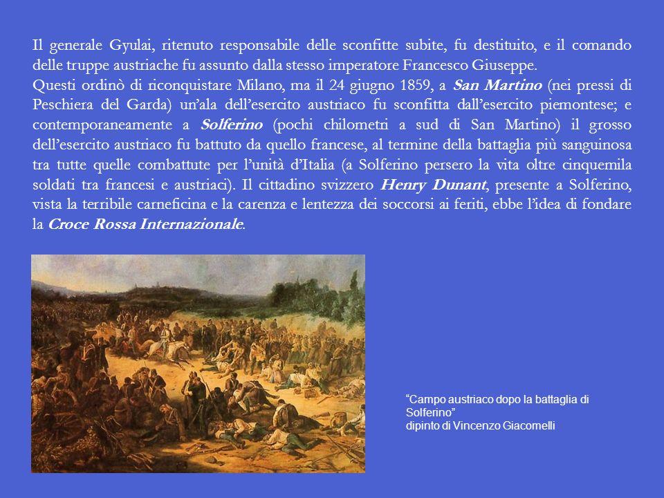 Il 4 giugno Francesi e Piemontesi insieme travolsero gli Austriaci a Magenta (località posta a metà strada tra Milano e Novara), e il generale Gyulai