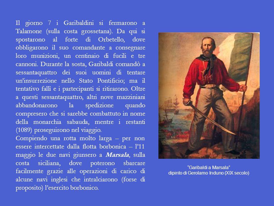 La spedizione dei Mille Nonostante il parere contrario di Cavour, che non vedeva di buon occhio la spedizione di Garibaldi in Sicilia, Vittorio Emanue