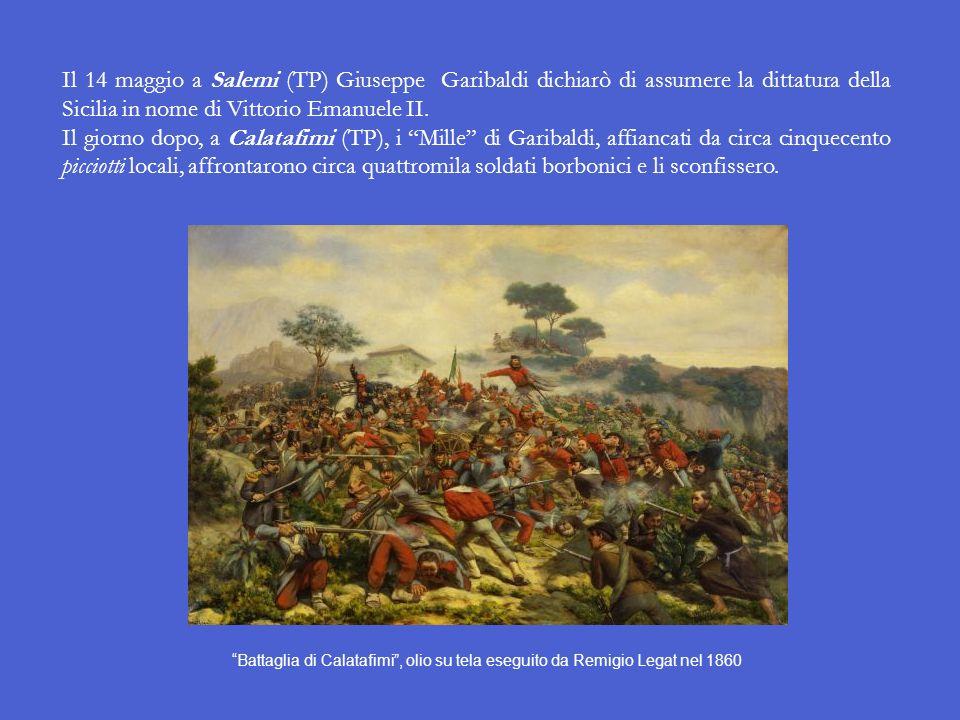 Il giorno 7 i Garibaldini si fermarono a Talamone (sulla costa grossetana). Da qui si spostarono al forte di Orbetello, dove obbligarono il suo comand