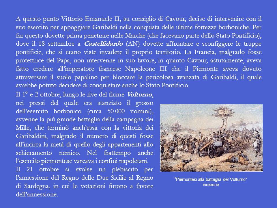 Il 19 agosto Garibaldi e i suoi uomini sbarcarono a Reggio Calabria, e in poco tempo, vista la scarsa resistenza opposta dai soldati borbonici (molti