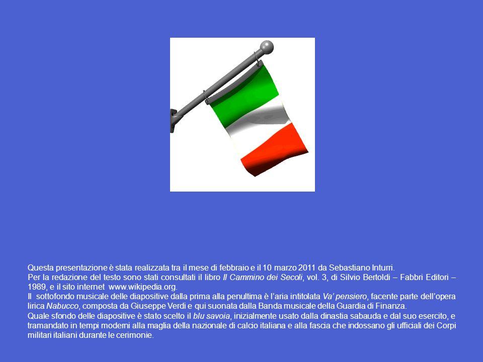 Un cenno agli eventi di rilievo successivi al 17 marzo 1861 Nel 1865 la capitale dItalia fu trasferita da Torino a Firenze. Il 3 ottobre 1866, al term