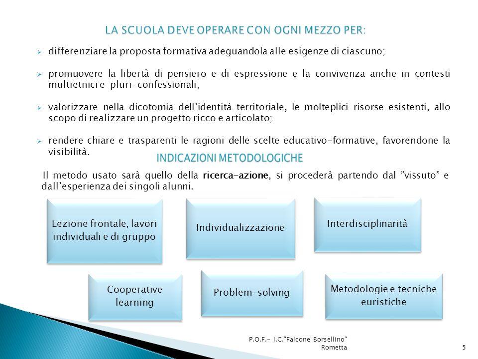 P.O.F.- I.C. Falcone Borsellino Rometta6