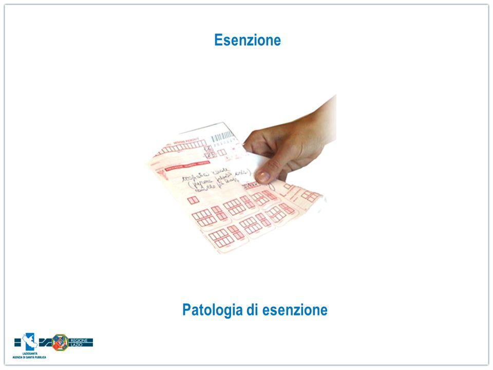 Esenzione Patologia di esenzione