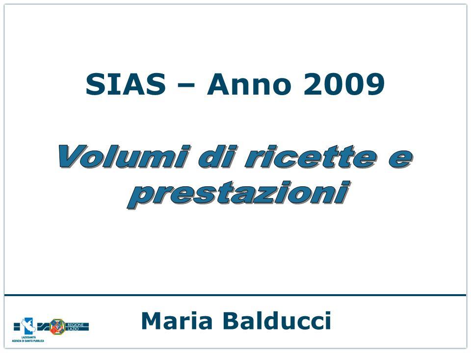 SIAS – Anno 2009 Maria Balducci