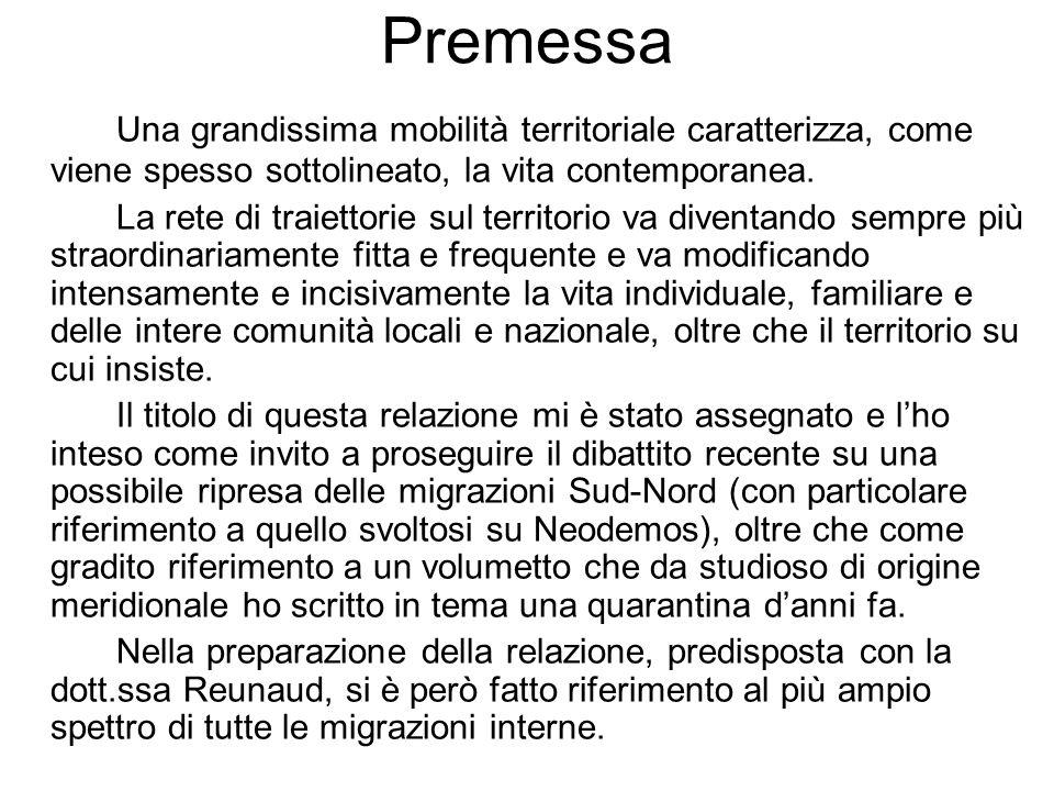 Saldi migratori interregionali, 2007 Fonte: nostra elaborazione su dati Istat