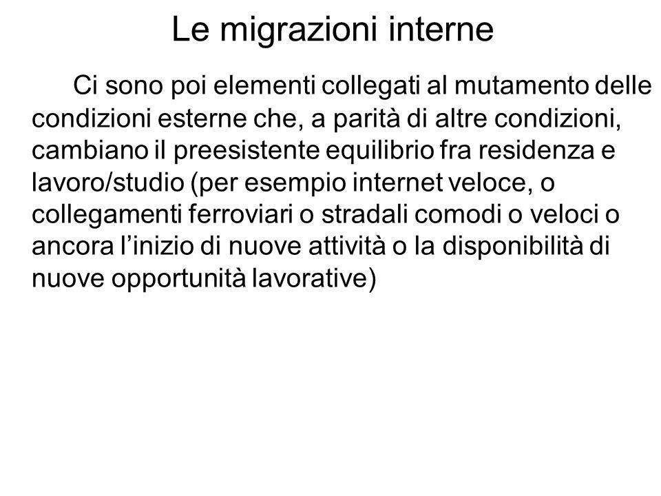 Migrazione interne italiani-stranieri Iscrizioni e cancellazioni anagrafiche per trasferimento di residenza per cittadinanza.
