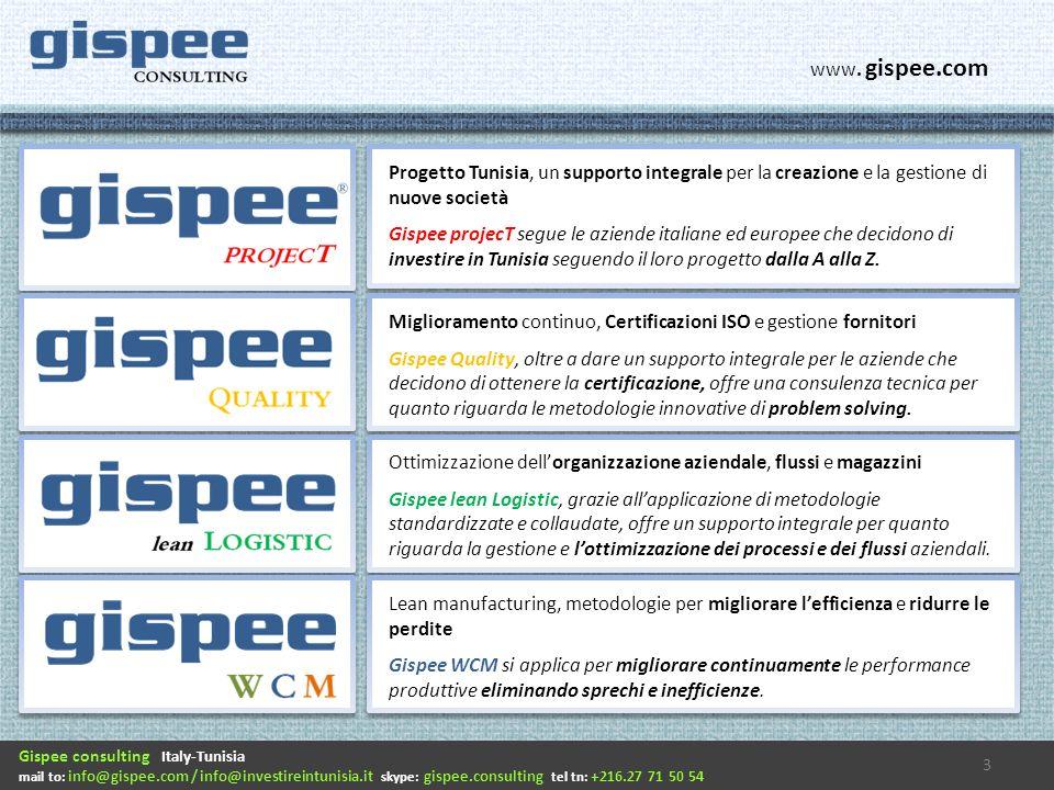 Progetto Tunisia, un supporto integrale per la creazione e la gestione di nuove società Gispee projecT segue le aziende italiane ed europee che decidono di investire in Tunisia seguendo il loro progetto dalla A alla Z.
