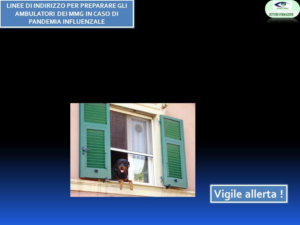 Vigile allerta ! LINEE DI INDIRIZZO PER PREPARARE GLI AMBULATORI DEI MMG IN CASO DI PANDEMIA INFLUENZALE