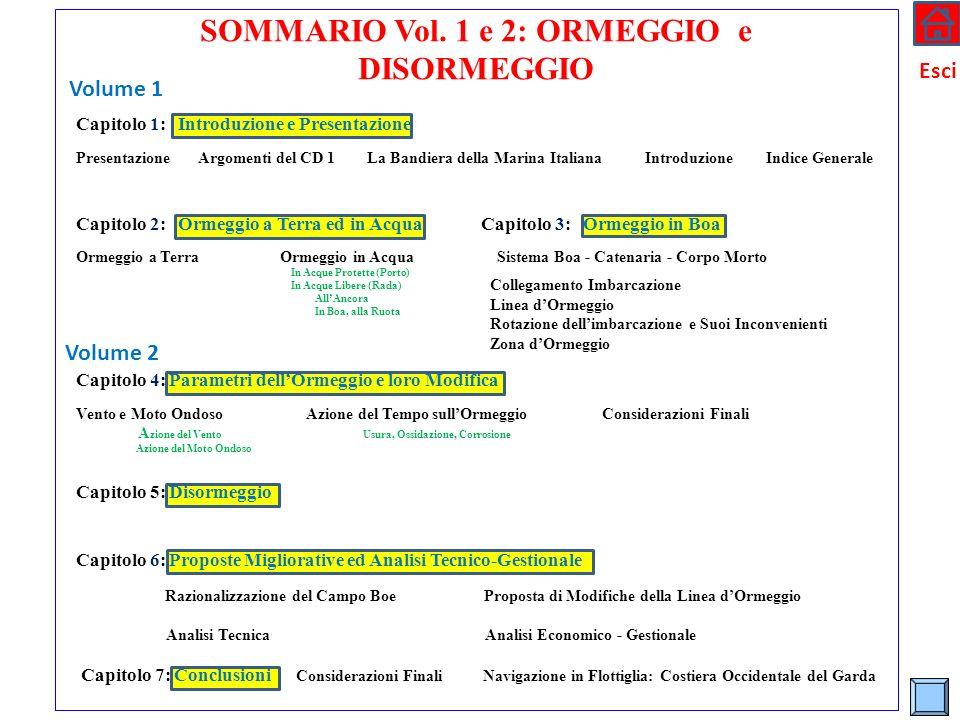 * SOMMARIO Vol. 1 e 2: ORMEGGIO e DISORMEGGIO Capitolo 1: Introduzione e Presentazione Presentazione Argomenti del CD 1 La Bandiera della Marina Itali