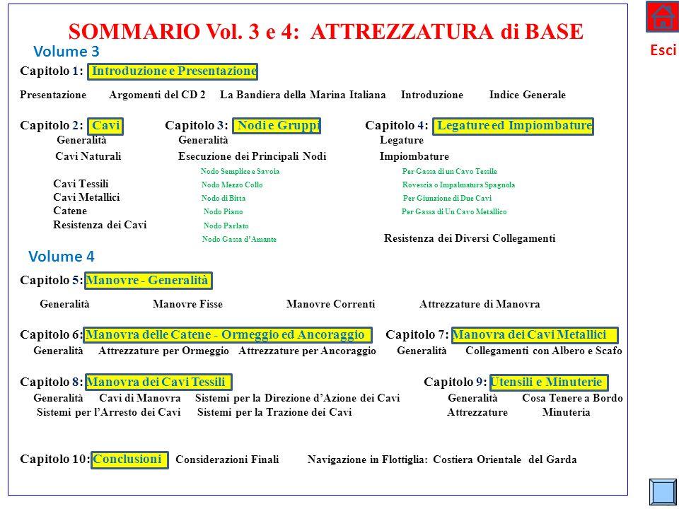 * Esci Volume 3 Volume 4 SOMMARIO Vol. 3 e 4: ATTREZZATURA di BASE Capitolo 1: Introduzione e Presentazione Presentazione Argomenti del CD 2 La Bandie