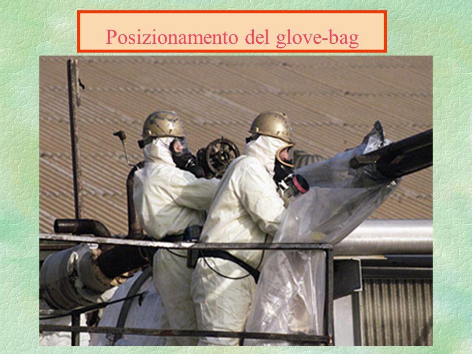 glove-bag Le procedure preliminari Verificare la temperatura delle tubazioni Verificare la temperatura delle tubazioni circoscrivere larea di lavoro,